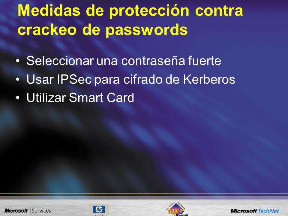 Medidas de protección contra crackeo de passwords