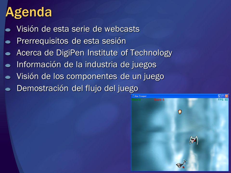 Agenda Visión de esta serie de webcasts Prerrequisitos de esta sesión