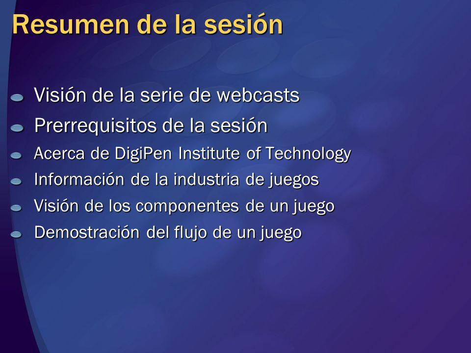 Resumen de la sesión Visión de la serie de webcasts