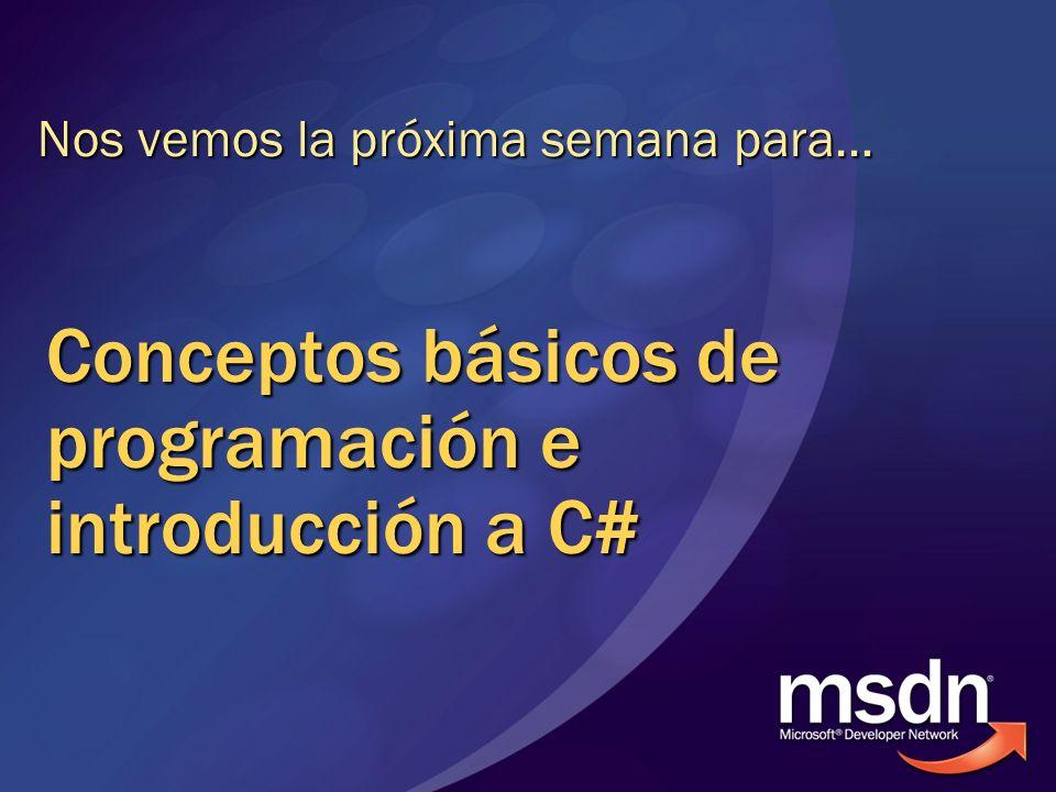 Conceptos básicos de programación e introducción a C#