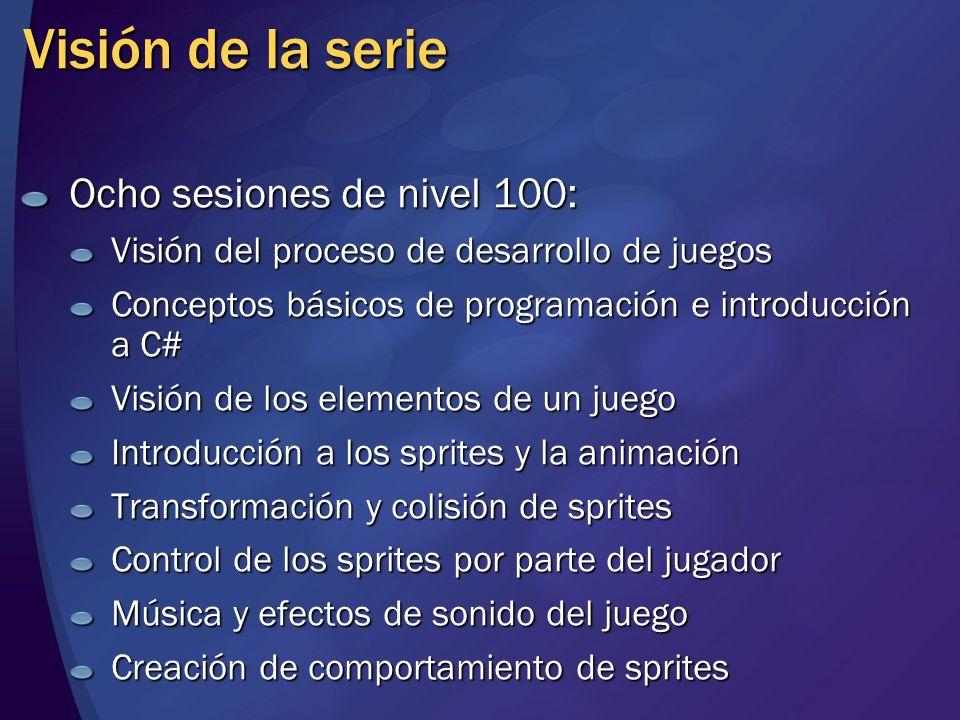 Visión de la serie Ocho sesiones de nivel 100: