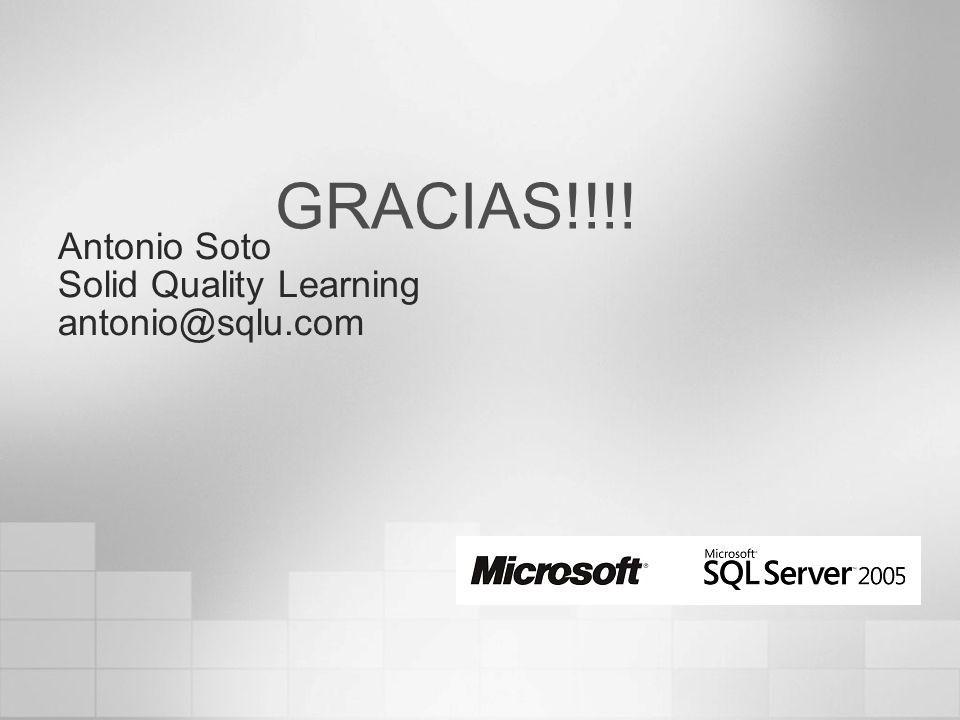 Antonio Soto Solid Quality Learning antonio@sqlu.com