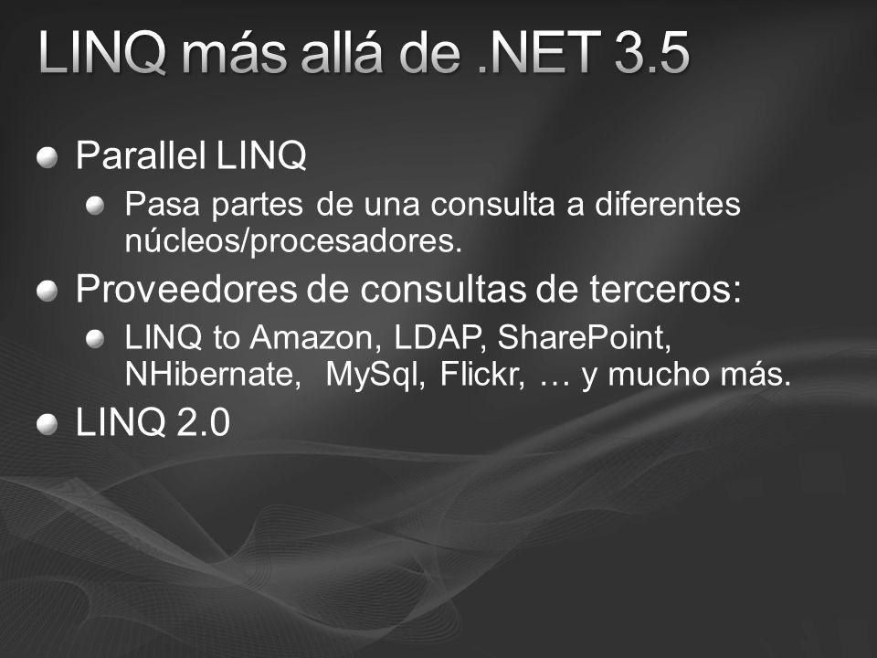 LINQ más allá de .NET 3.5 Parallel LINQ