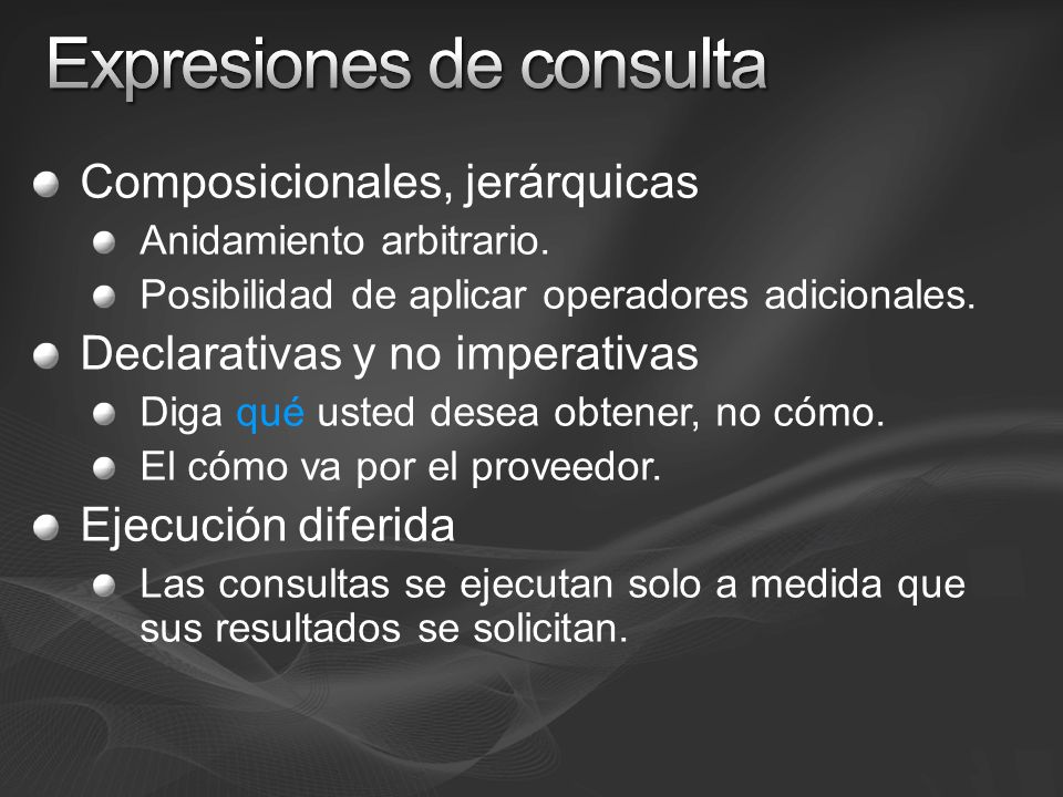 Expresiones de consulta