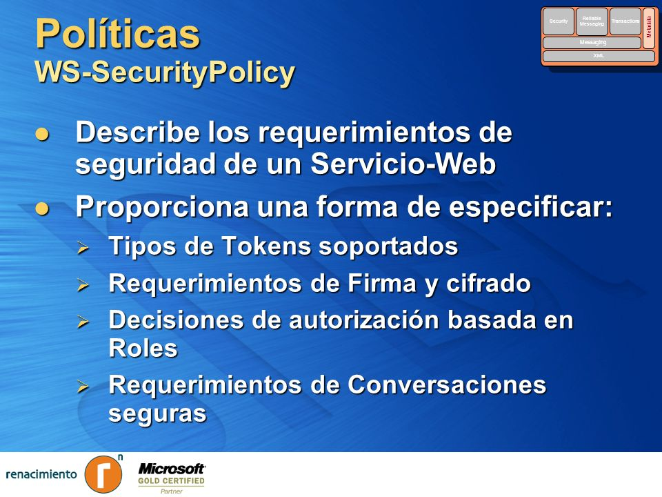 Políticas WS-SecurityPolicy