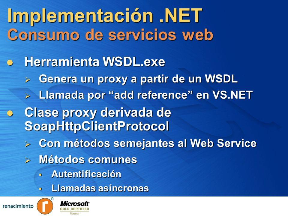 Implementación .NET Consumo de servicios web