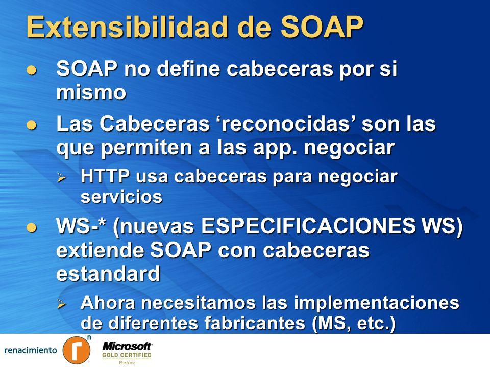 Extensibilidad de SOAP