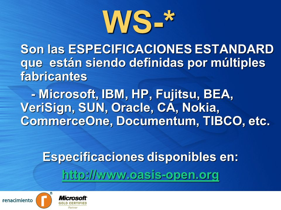 Especificaciones disponibles en: