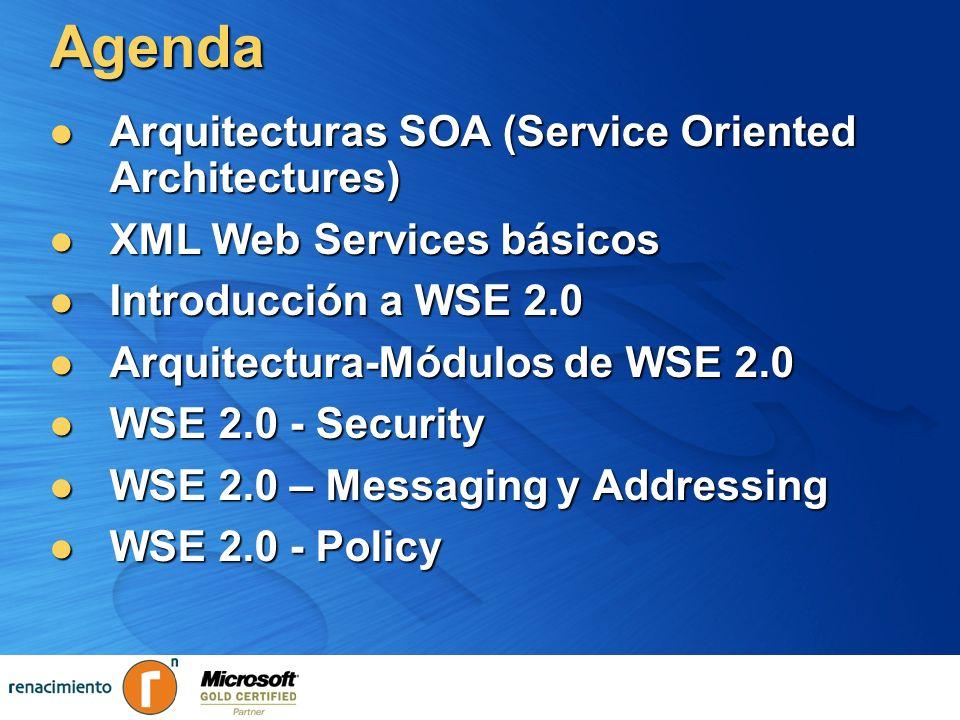 Agenda Arquitecturas SOA (Service Oriented Architectures)