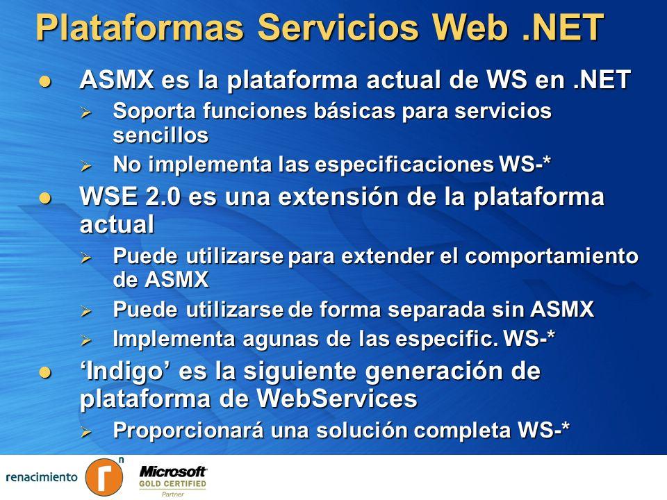 Plataformas Servicios Web .NET
