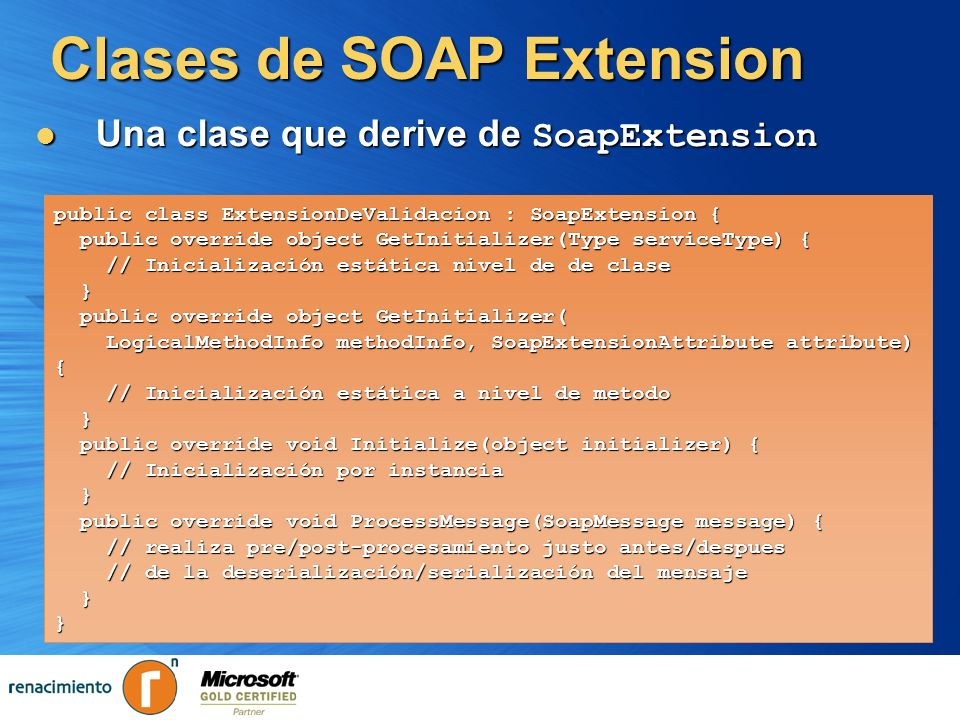 Clases de SOAP Extension