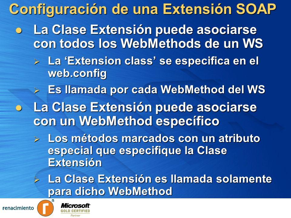 Configuración de una Extensión SOAP