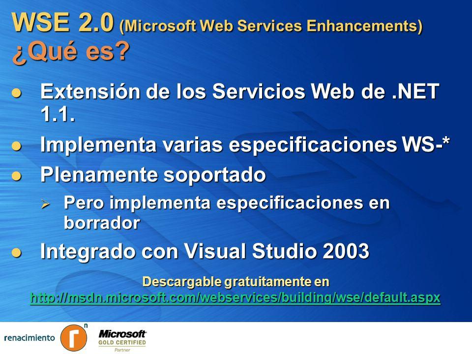 WSE 2.0 (Microsoft Web Services Enhancements) ¿Qué es