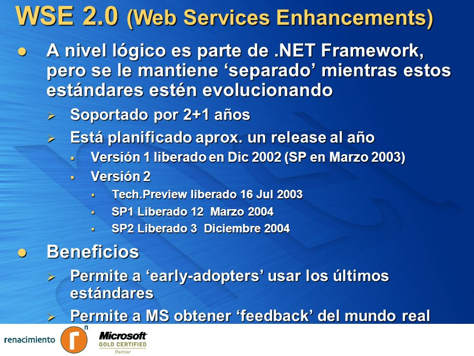 WSE 2.0 (Web Services Enhancements)