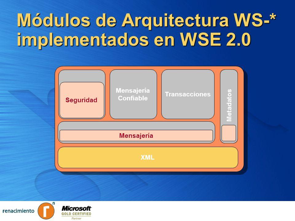 Módulos de Arquitectura WS-* implementados en WSE 2.0