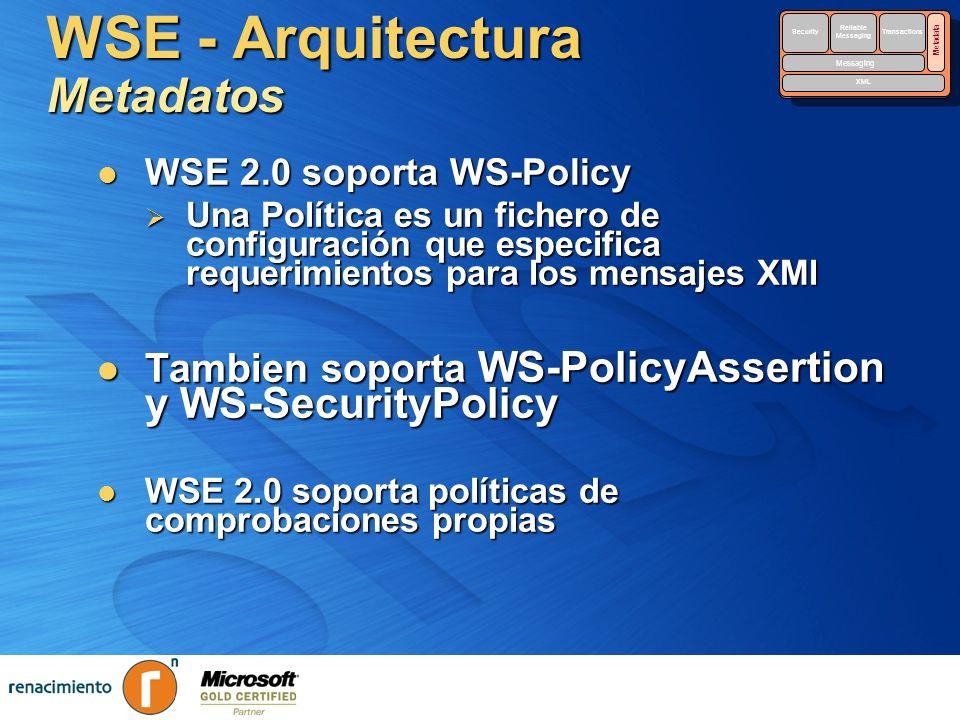 WSE - Arquitectura Metadatos