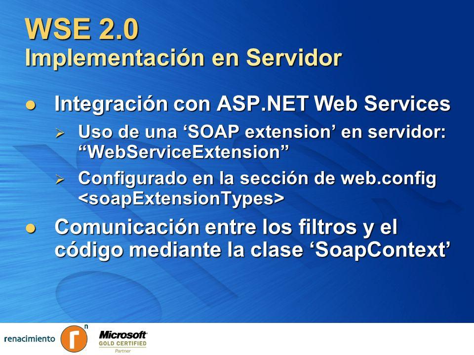 WSE 2.0 Implementación en Servidor
