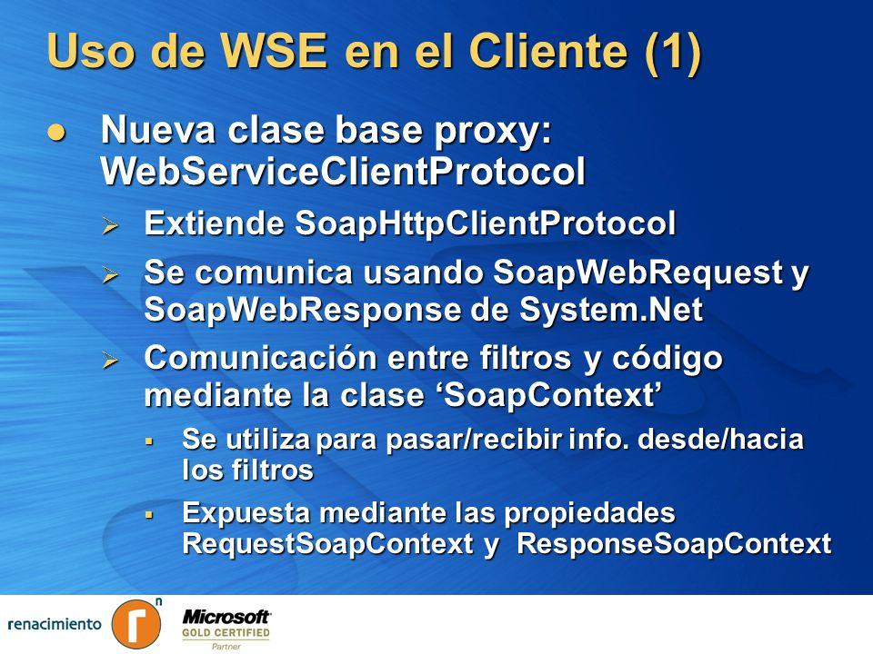 Uso de WSE en el Cliente (1)