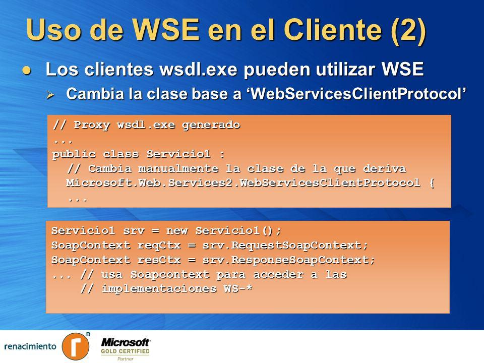 Uso de WSE en el Cliente (2)