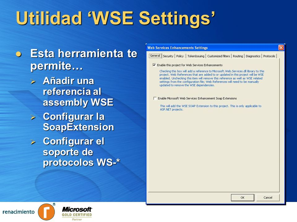 Utilidad 'WSE Settings'