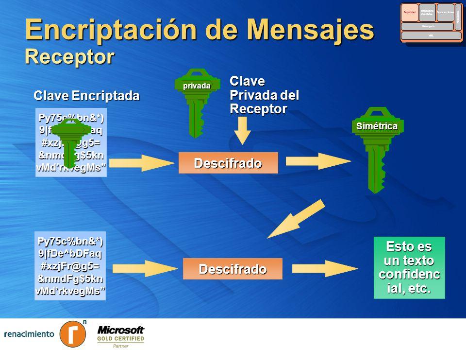Encriptación de Mensajes Receptor