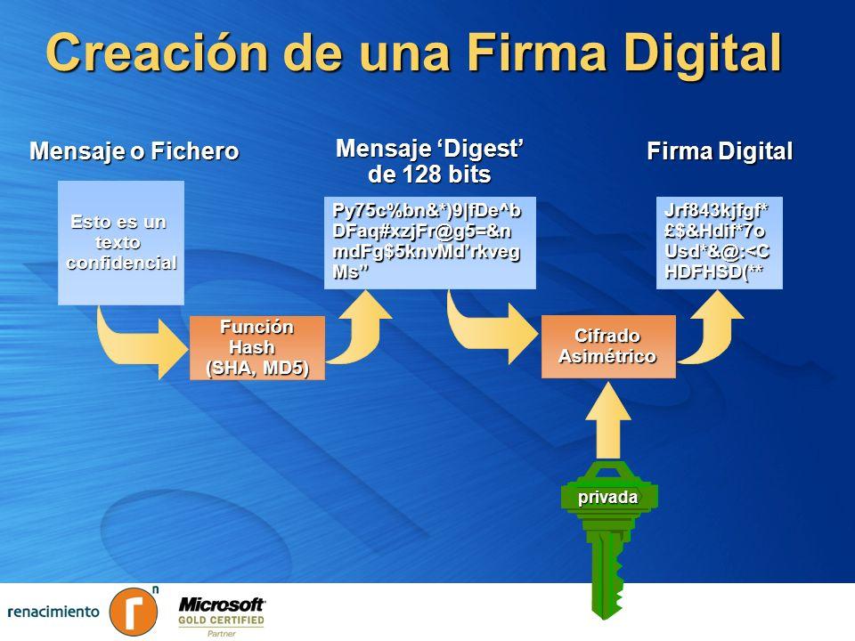 Creación de una Firma Digital