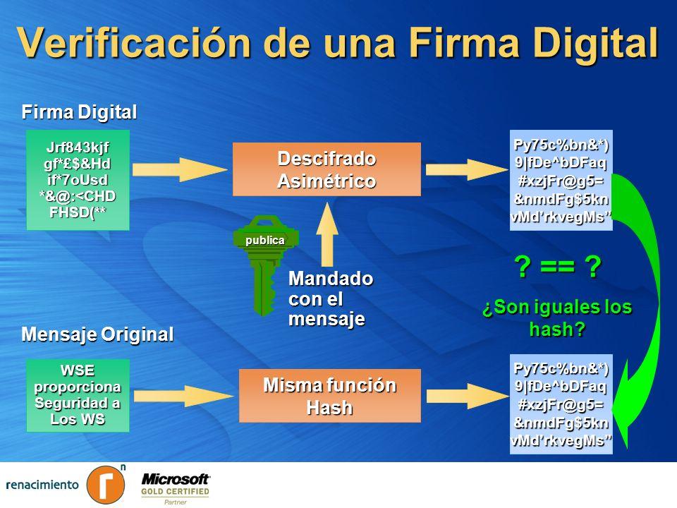 Verificación de una Firma Digital