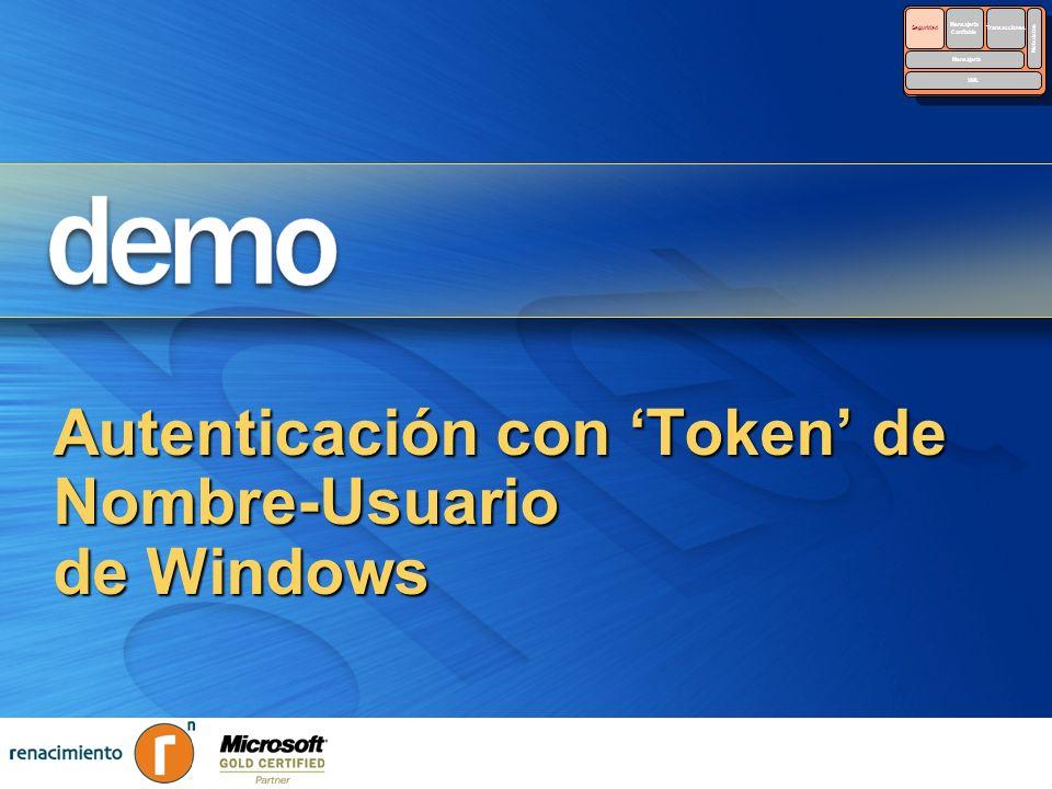 Autenticación con 'Token' de Nombre-Usuario de Windows