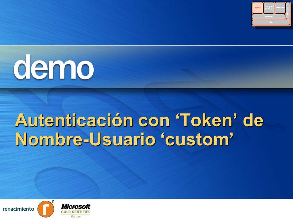 Autenticación con 'Token' de Nombre-Usuario 'custom'