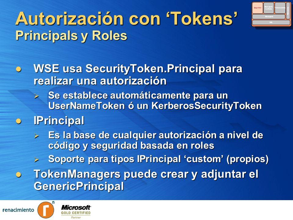 Autorización con 'Tokens' Principals y Roles