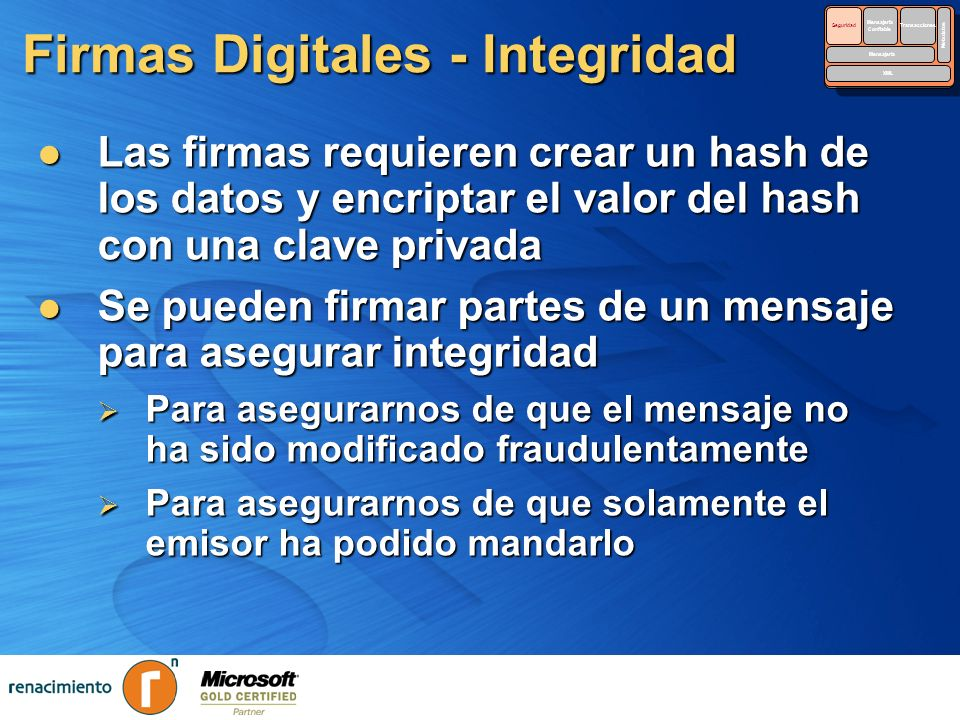 Firmas Digitales - Integridad