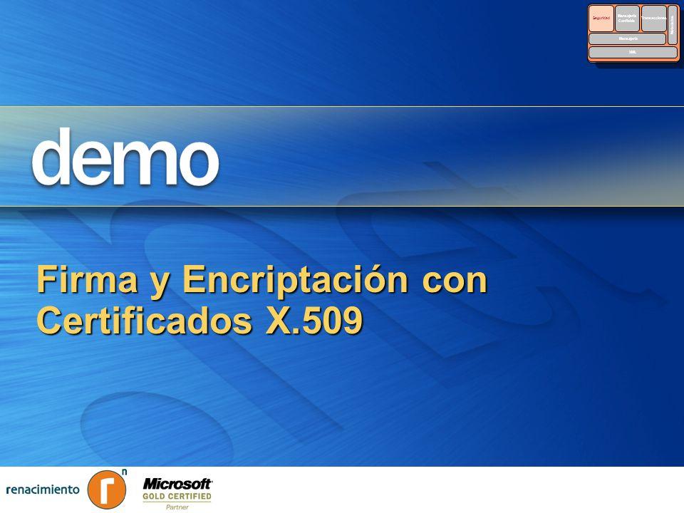 Firma y Encriptación con Certificados X.509