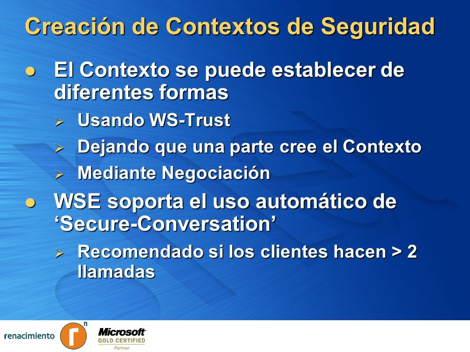 Creación de Contextos de Seguridad