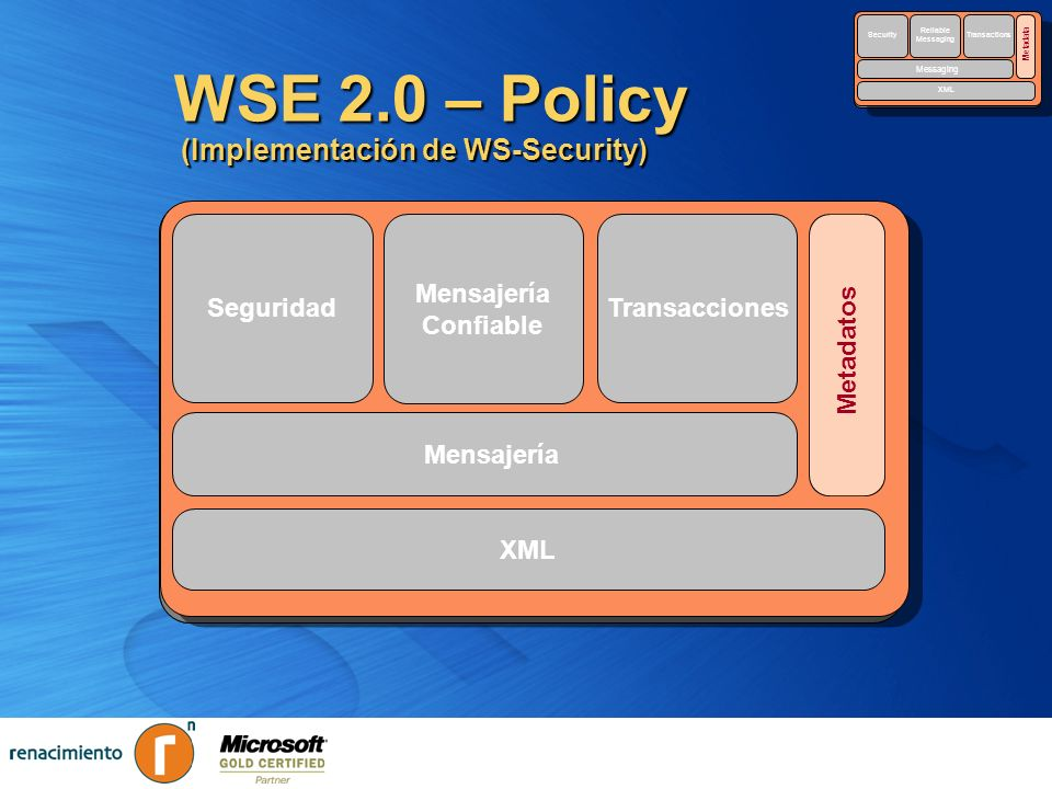 WSE 2.0 – Policy (Implementación de WS-Security)