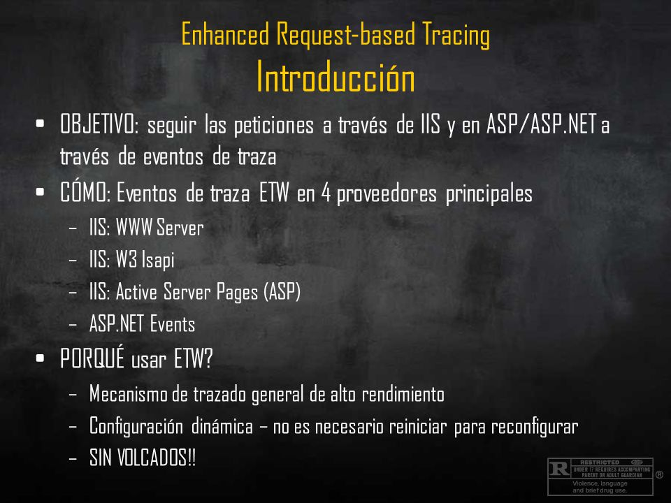 Enhanced Request-based Tracing Introducción