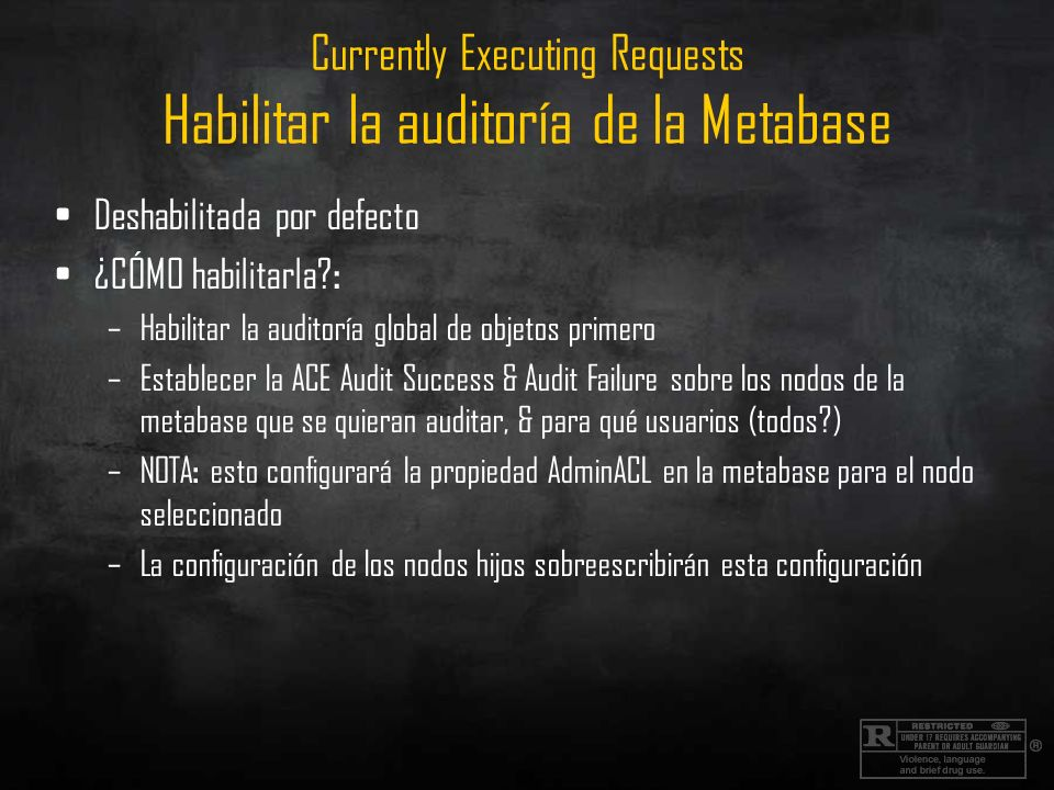 Currently Executing Requests Habilitar la auditoría de la Metabase