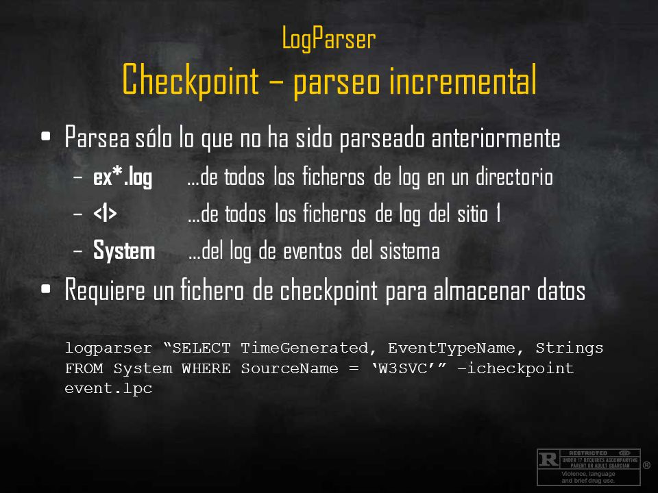LogParser Checkpoint – parseo incremental