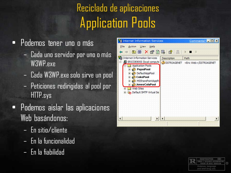 Reciclado de aplicaciones Application Pools