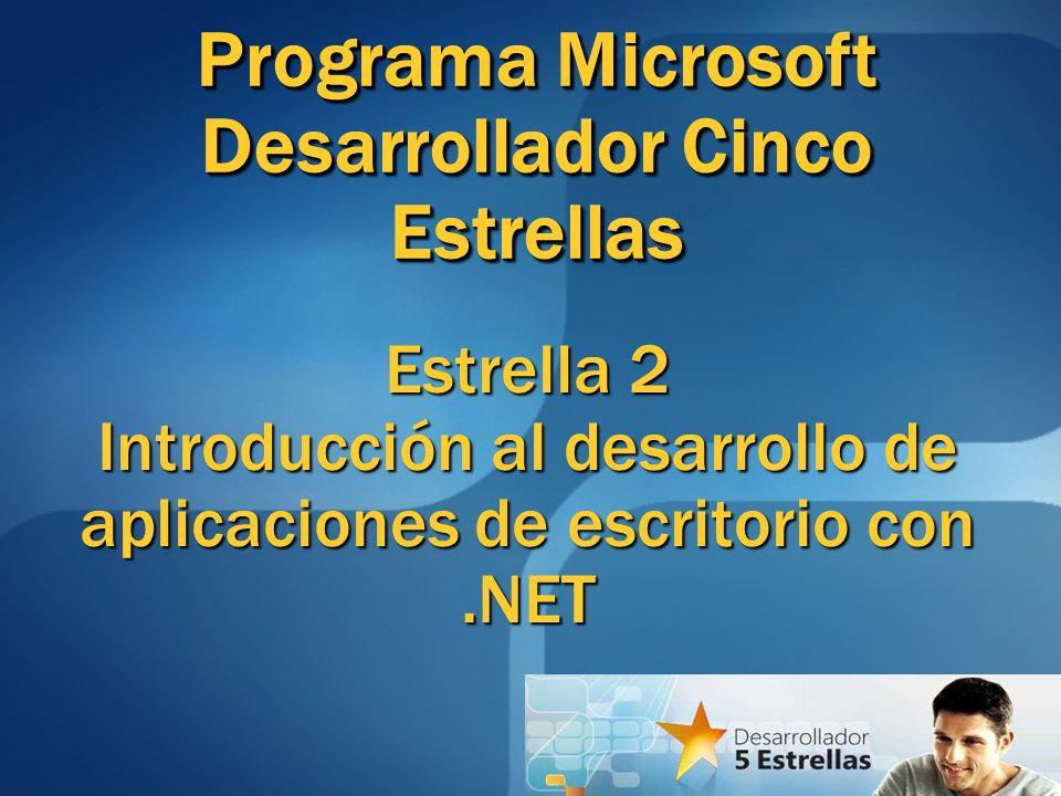 Programa Microsoft Desarrollador Cinco Estrellas