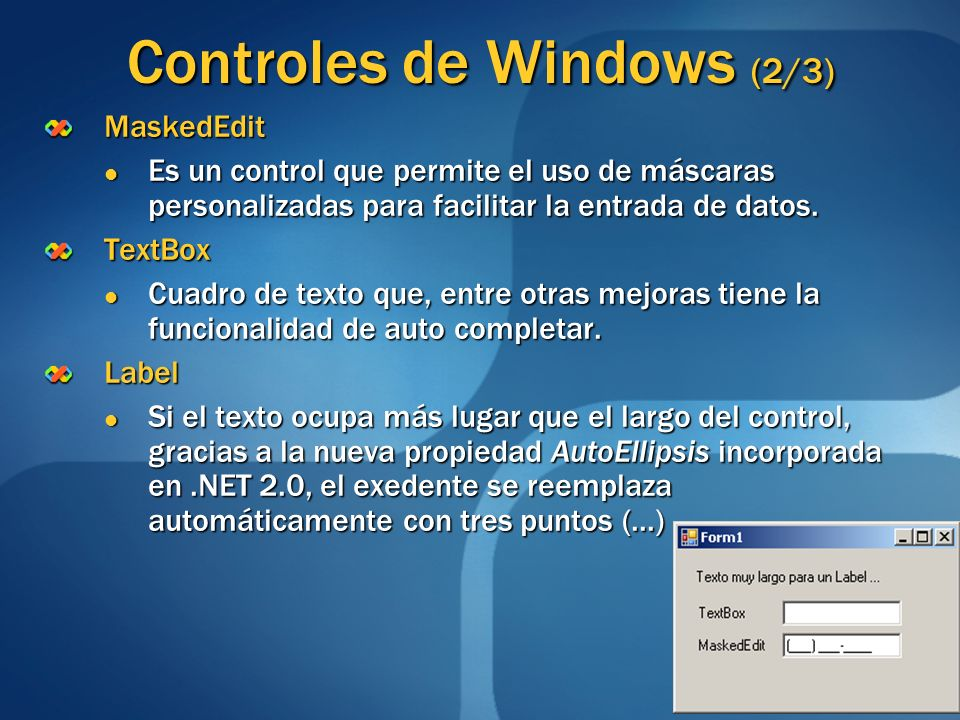 Controles de Windows (2/3)