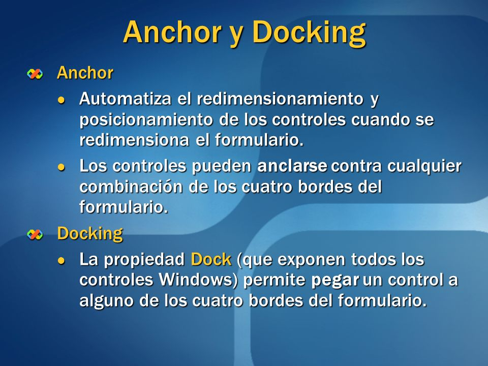 Anchor y Docking Anchor