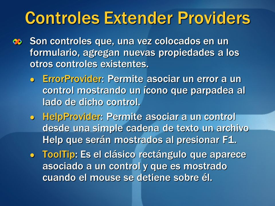 Controles Extender Providers