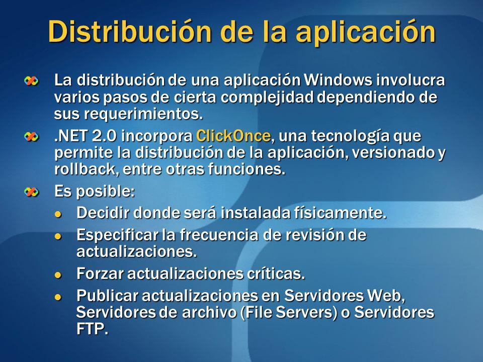 Distribución de la aplicación