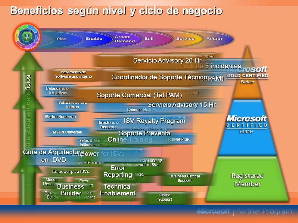 Beneficios según nivel y ciclo de negocio