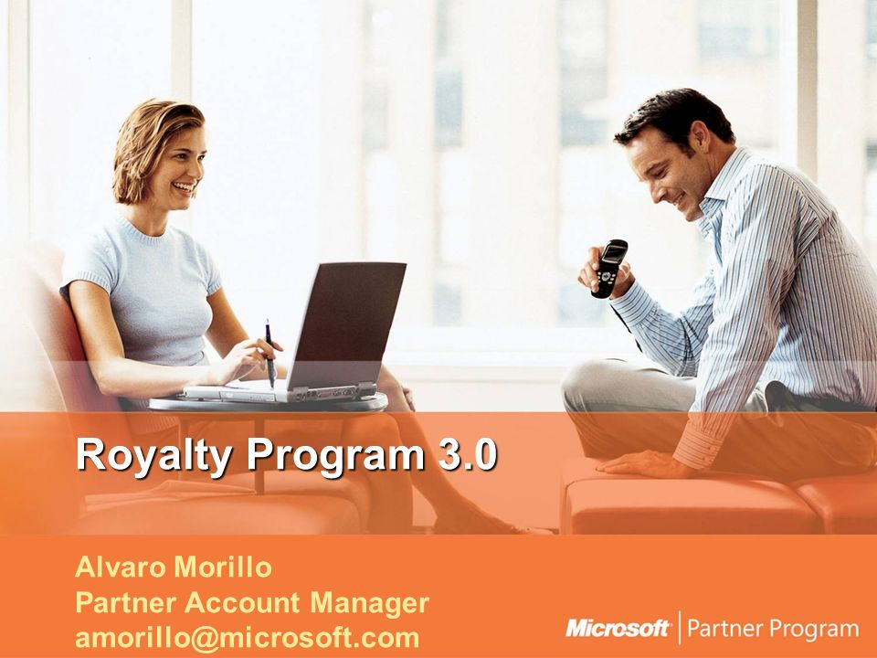 Royalty Program 3.0 Alvaro Morillo Partner Account Manager