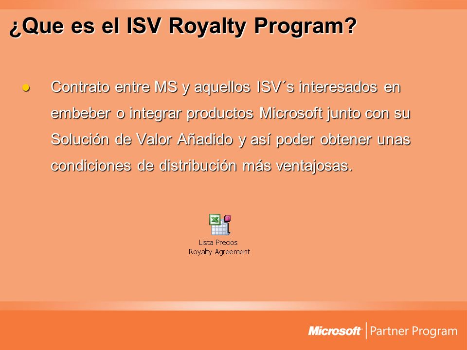 ¿Que es el ISV Royalty Program