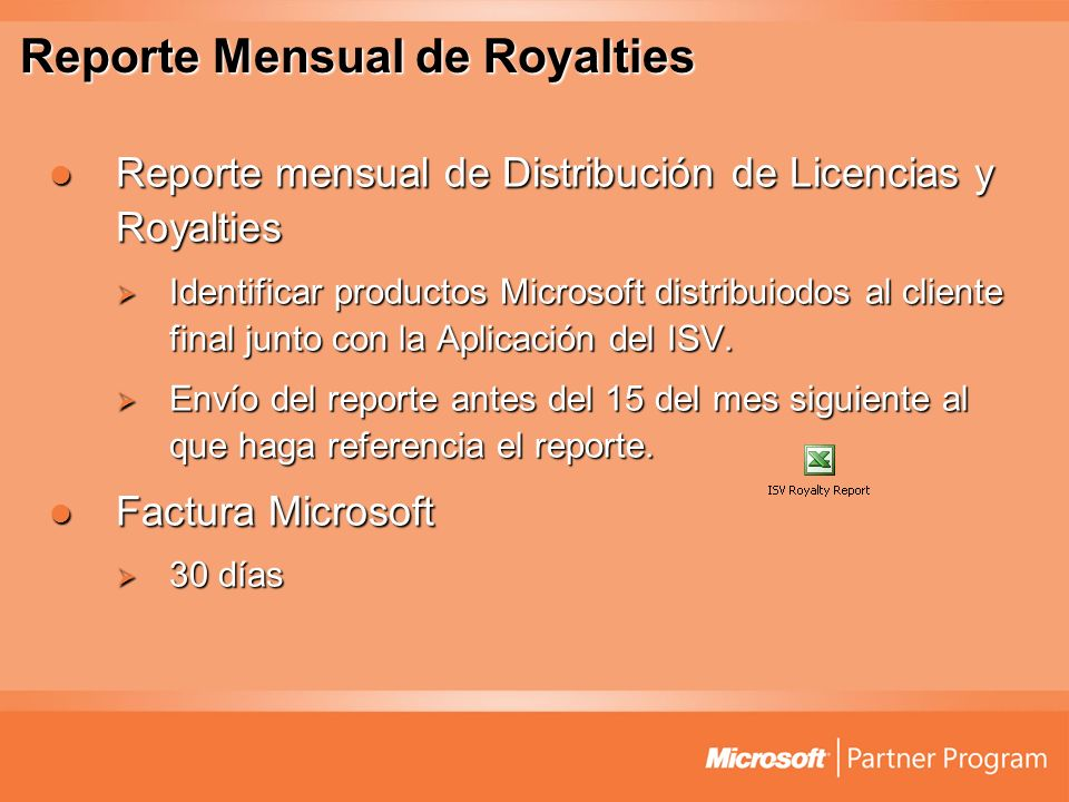Reporte Mensual de Royalties