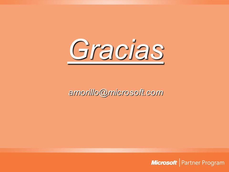 Gracias amorillo@microsoft.com