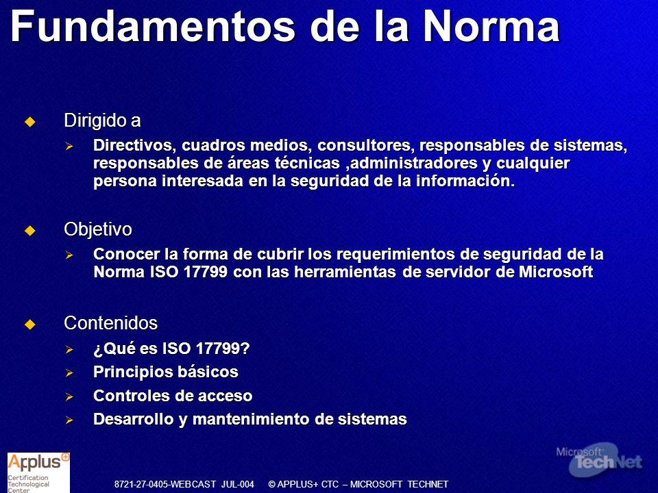 Fundamentos de la Norma