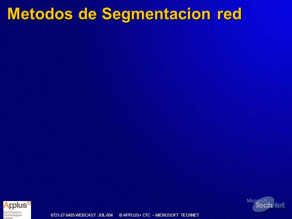 Metodos de Segmentacion red